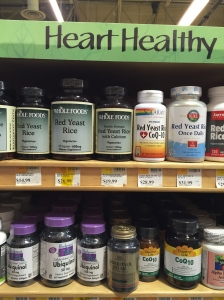 "Red Yeast Rice sits atop the ""Heart Healthy"" shelves at Whole Foods, surrounded by other useless ""natural"" supplements like ubiquinol (Coenzyme Q-10) and reservatrol."